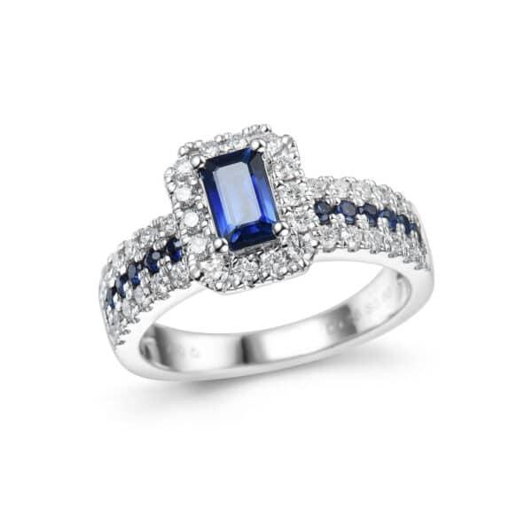 RING SAPPHIRE TOP WHIT DIAMONDS