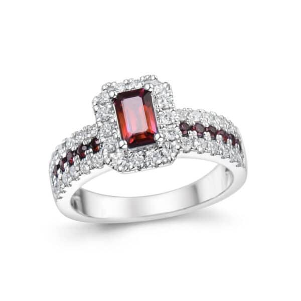 RING RUBY TOP WHIT DIAMONDS