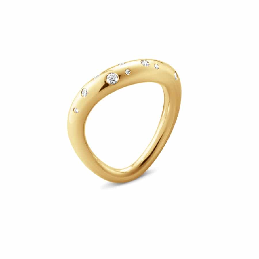 GEORG JENSEN RING OFFSPRING GULTGULL MED DIAMANTER