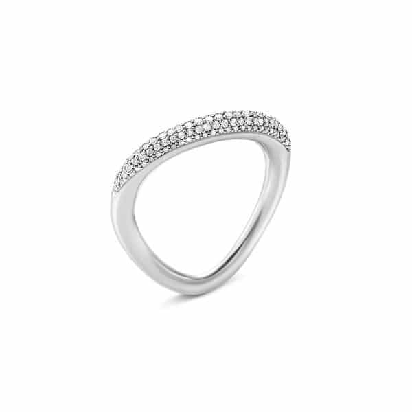 GEORG JENSEN RING OFFSPRING SØLV MED DIAMANTER