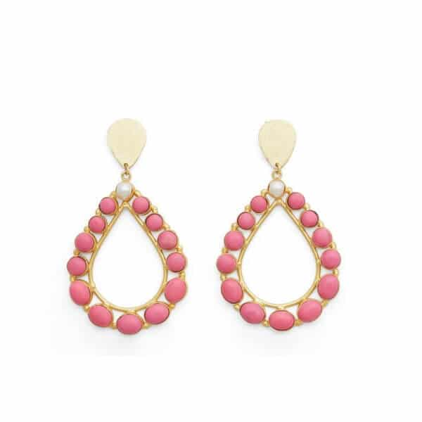 MISS MATHIESEN DROPS FROM MY BATH TUB EARRINGS PINK