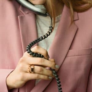 MARIA BLACK RING MOM FORGYLT
