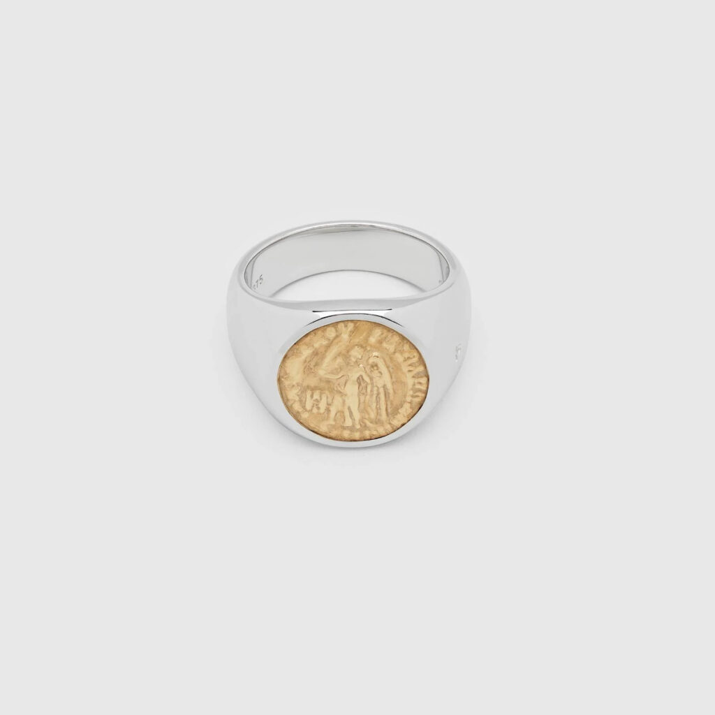 TOM WOOD RING COIN ANGEL GOLD