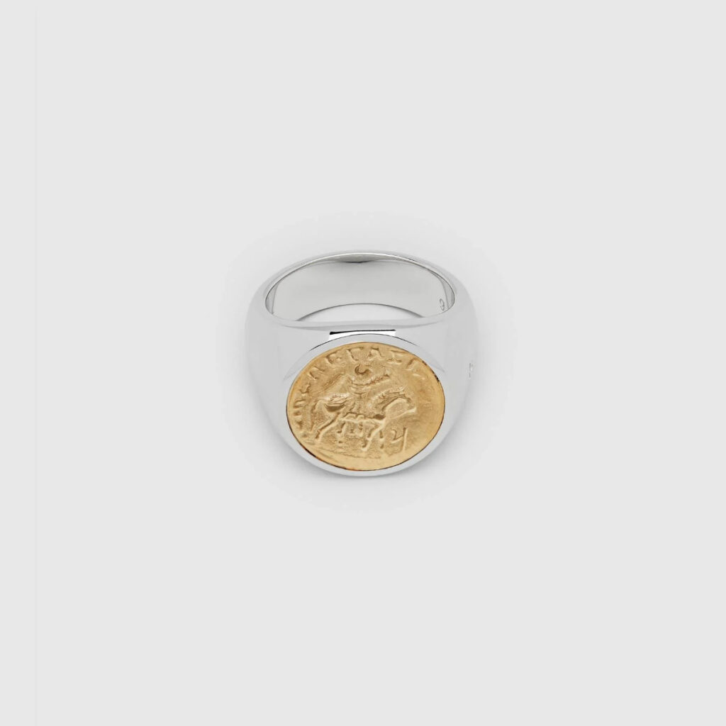 TOM WOOD RING COIN GOLD
