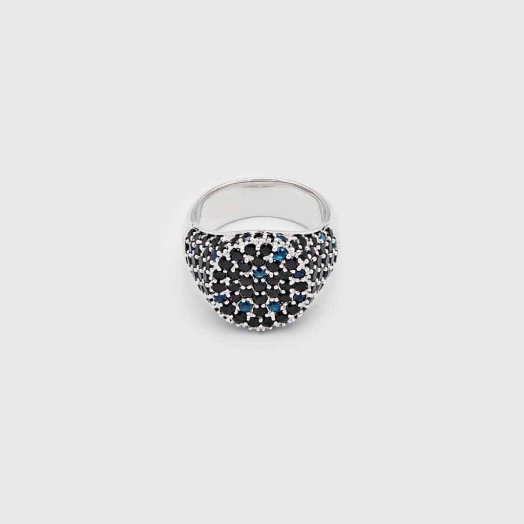 TOM WOOD RING OVAL COCKTAIL BLUE