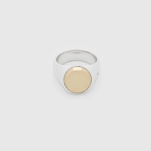 TOM WOOD RING OVAL GOLD TOP