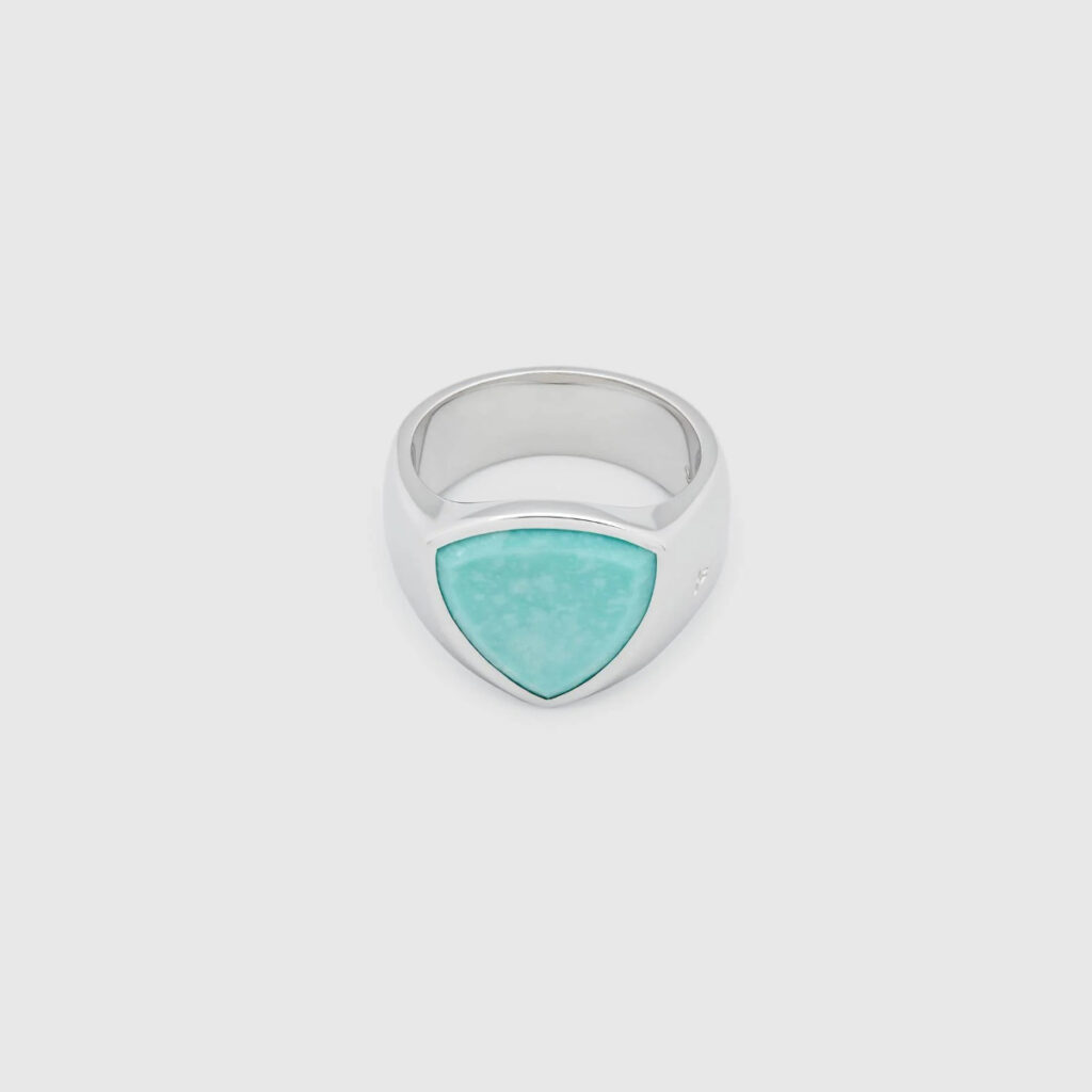 TOM WOOD RING SHEILD TURQUOISE