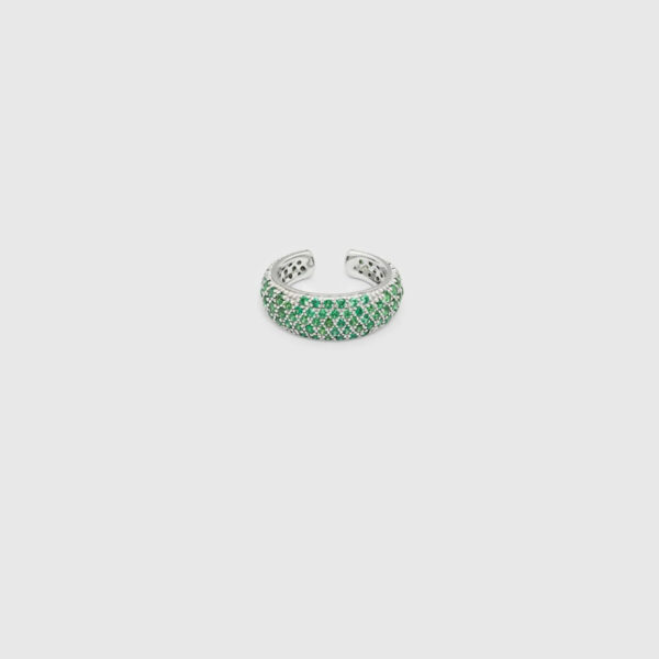 TOM WOOD EAR CUFF THICK FORREST GREEN