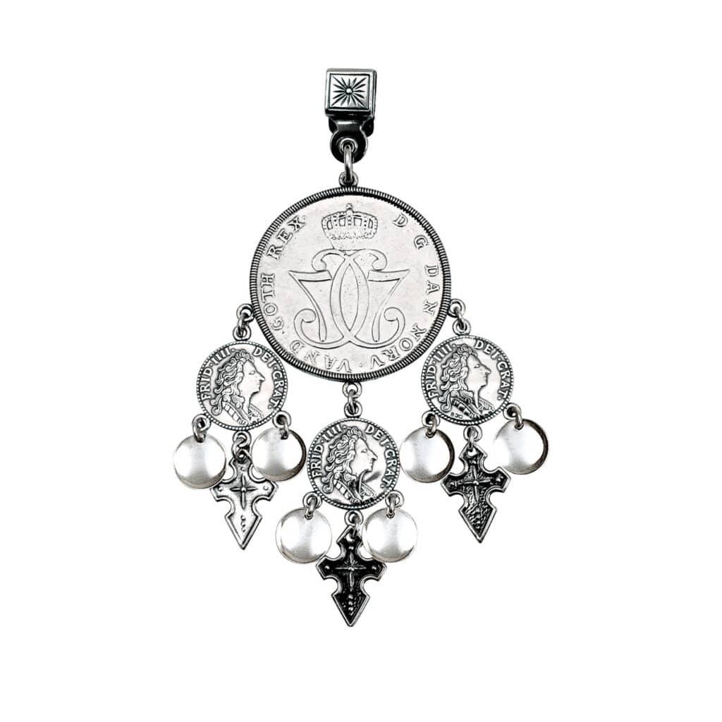 myntdalar oksidert sølv